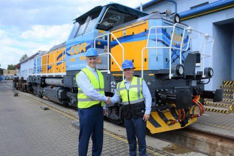 Slavnostní předání první lokomotivy Effishunter 1000M. Foto: CZ LOKO