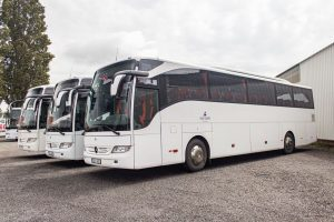 Autobusy společnosti Enjoy Europe. Pramen: Enjoy Europe/FlixBus
