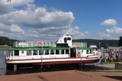 Loď Morava těsně před první plavbou. Foto: Jakub Hruška