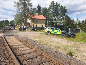 Srážka vlaků u Perninku. Foto: Policie ČR