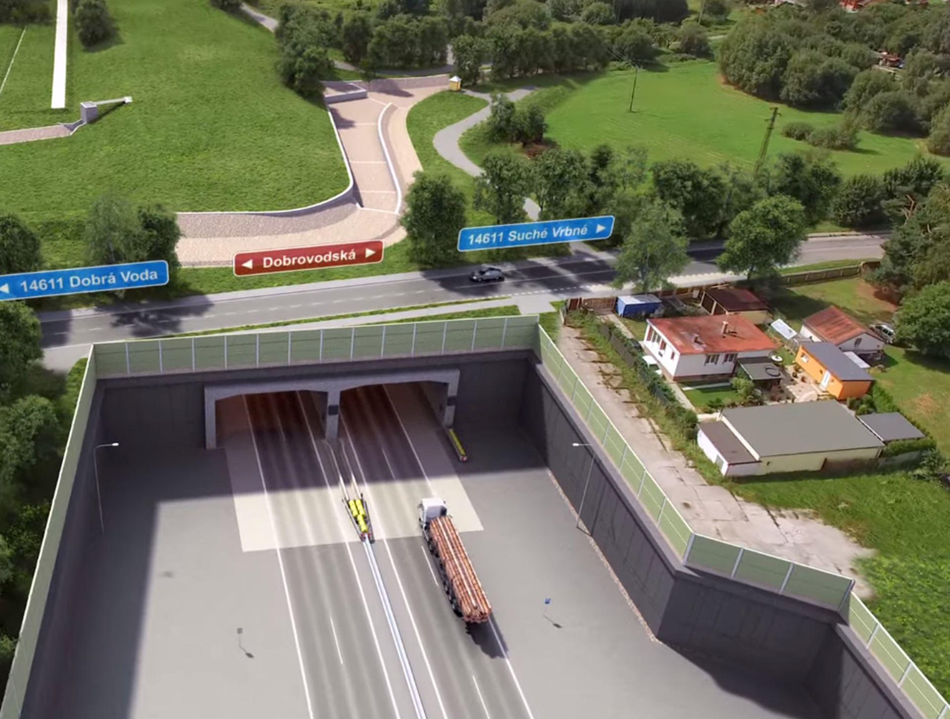 Vizualizace D3 u tunelu Pohůrka. Foto: ŘSD