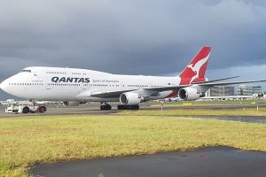 Boeing 747-400 v v barvách Qantas v Sydney. Foto: Qantas
