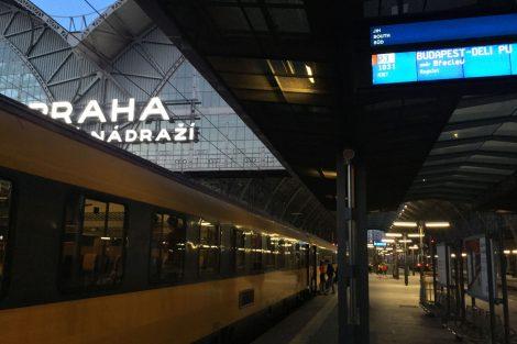 První vlak RegioJetu do Maďarska. Foto: RJ