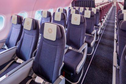 Premium economy v A321neo společnosti Vistara. Foto: Vistara
