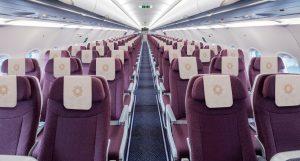 Ekonomická třída v A321neo společnosti Vistara. Foto: Vistara