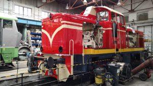 Oprava lokomotivy T426.003. Foto: KDS