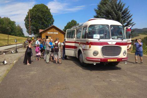 Historický autobus Škoda 706 RTO. Foto: Zubrnická museální železnice