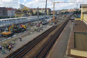 Stavební práce na modernizaci stanice Praha- Vršovice. Foto: Zdopravy.cz / Jan Sůra