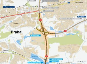 Mapa rozšíření úseku D0 na východě Praha. Foto: ŘSD