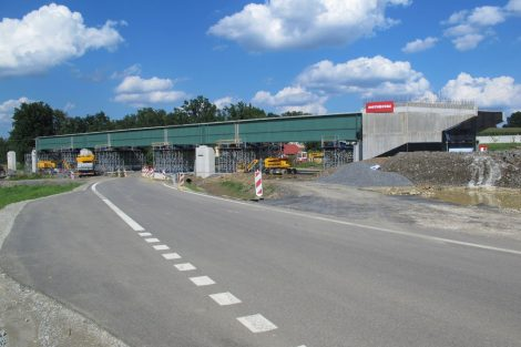 Stavba 4. koridoru Soběslav - Doubí. Autor: Petr Špetlák
