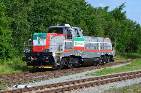 Lokomotiva EffiShunter 1000 italského dopravce Sangritana. Pramen: CZ LOKO