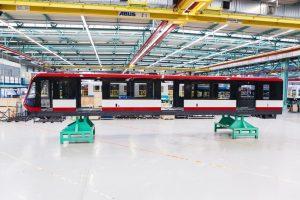 Výroba metra G1 pro Norimberk v závodě Siemensu ve Vídni. Foto: VAG
