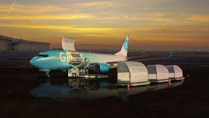 Boeing 737-800BCF v barvách GECAS. Foto: GECAS