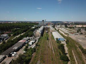 Nákladové nádraží Žižkov. Pramen: IPR Praha