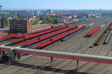 Uzel Pardubice po modernizaci. Pramen: Správa železnic