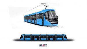 Budoucí vzhled vratislavských tramvají Škoda 16T. Pramen: MPK Wrocław