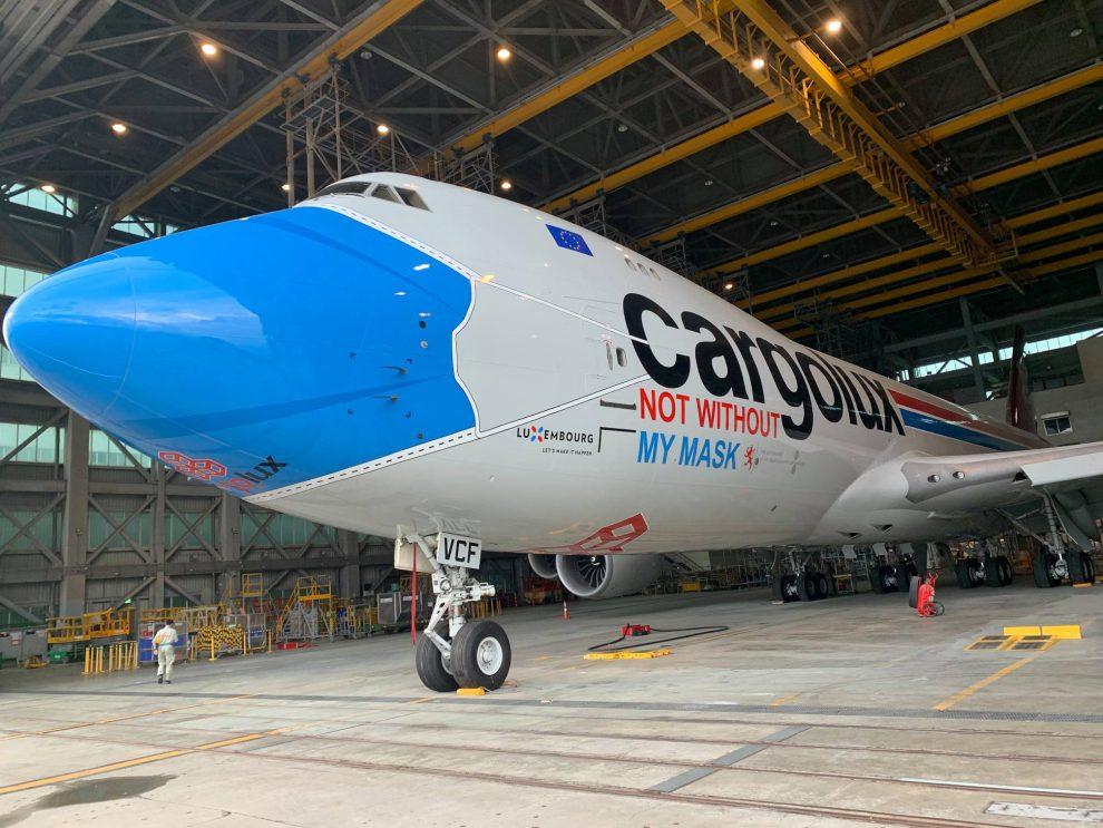 Boeing 747-8 společnosti Cargolux v novém laku. Foto: Cargolux