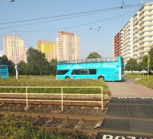Nové dvoupodlažní autobusy v Ostravě. Foto: Monika Křeménková / FB skupina Ostrava