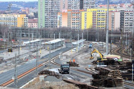 Zastávka Eden, stav v březnu 2020. Foto: Správa železnic