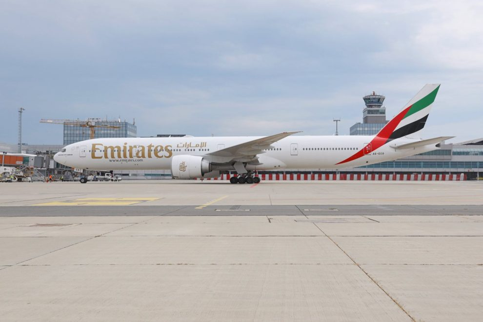 Boeing 777-300ER v Praze. Foto: Letiště Praha