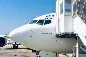 Boeing 737-900 El Al se speciálním polepem pro let do Abú Dhabí. Foto: El Al