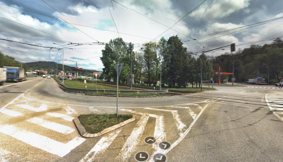 Křižovatka Kníničské a Bystrcké ulice v Brně. Foto: Mapy.cz