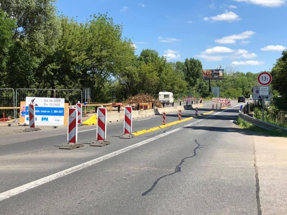 Oprava mostu na silnici I/38 v Kolíně. Foto: FB Kolín