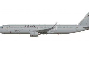 Airbus A321LR ACJ v barvách Luftwaffe. Foto: Airbus