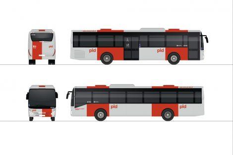 Nové barvy pro Pražskou integrovanou dopravu. Foto: Superlative.works