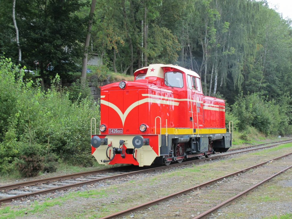 Lokomotiva T426.003 po rekonstrukci v Kořenově. Foto: Petr Špetlák