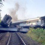 Vykolejení vlaku ve Skotsku. Foto: British Transport Police