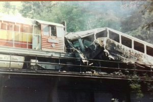 Nehoda ve Spálově 25. srpna 1990. Foto: archiv J. Berounského