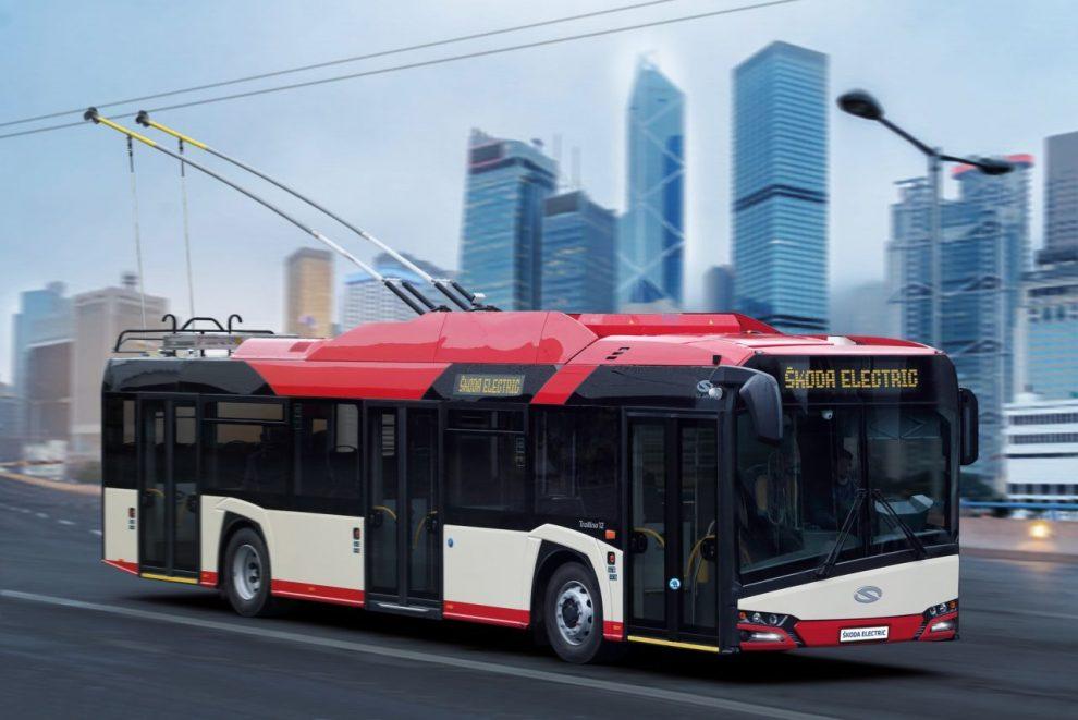Dvanáctimetrový trolejbus Solaris/Škoda pro Vilnius, ilustrační foto. Pramen: Škoda Electric