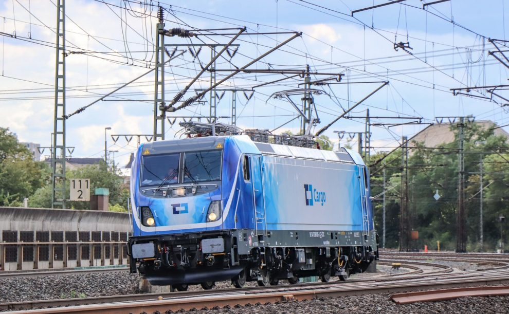 Lokomotiva Bombardier TRAXX MS3 při zkoušce v okolí Kasselu. Foto: Martin Voigt