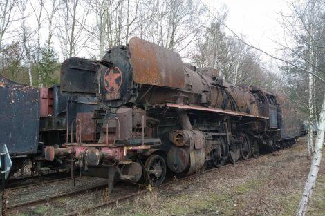 Lokomotiva 556.0304 v Lužné. Foto: Železeniční muzeum Výtopna Jaroměř