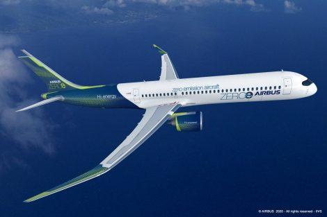 Koncept bezemisního letadla ZEROe od Airbusu. Foto: Airbus