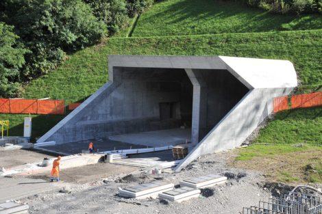 Stavba tunelu Ceneri. Pramen: AlpTransit Gotthard