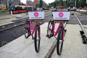 Náhradní cyklistická doprava v Bratislavě. Foto: Rekola