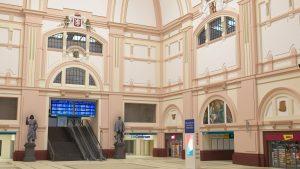 Interiér spodní haly nádraží Plzeň, vizualizace. Pramen: Správa železnic