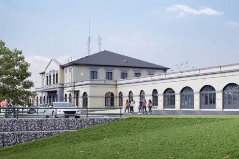Budoucí vzhled nádraží Opava. Pramen: Správa železnic