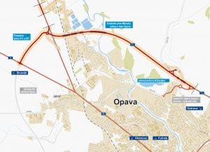 Západní část severního obchvatu Opavy (I/11). Pramen: ŘSD