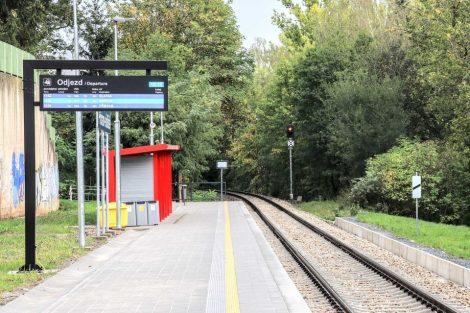 Nová zastávka Příbram-sídliště. Pramen: Správa železnic