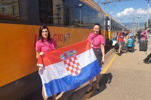 Vlak RegioJetu ve stanici Rijeka. Pramen: RegioJet