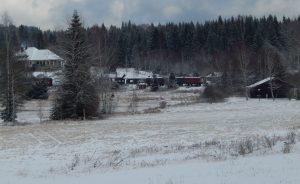 Nové Údolí. Vagony vpravo od stanice jsou už na soukromé části dráhy. Autor: Zdopravy.cz/Jan Šindelář