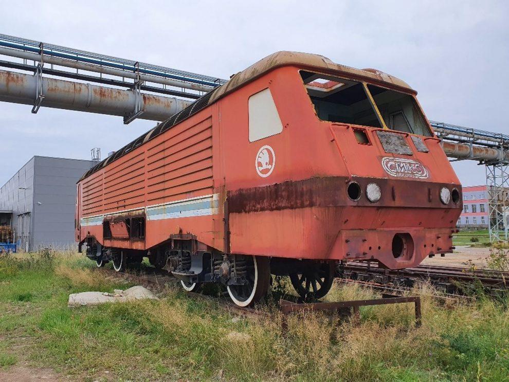Lokomotiva řady 169 odstavená v Plzni. Foto: ČMŽO
