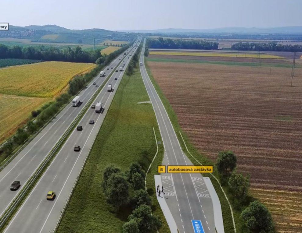 Vizualizace dálnice D52 u obce Bavory. Foto: ŘSD