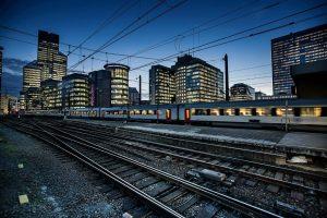 Vlak na severním nádraží v Bruselu (Bruxelles - Nord). Foto: SNCB
