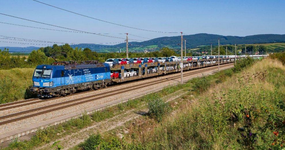 Přeprava osobních aut ze Slovenska do Německa . Foto: ČD Cargo / Karim Ibrahim