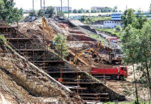 Sanace svahu u Dalovic. Foto: Správa železnic