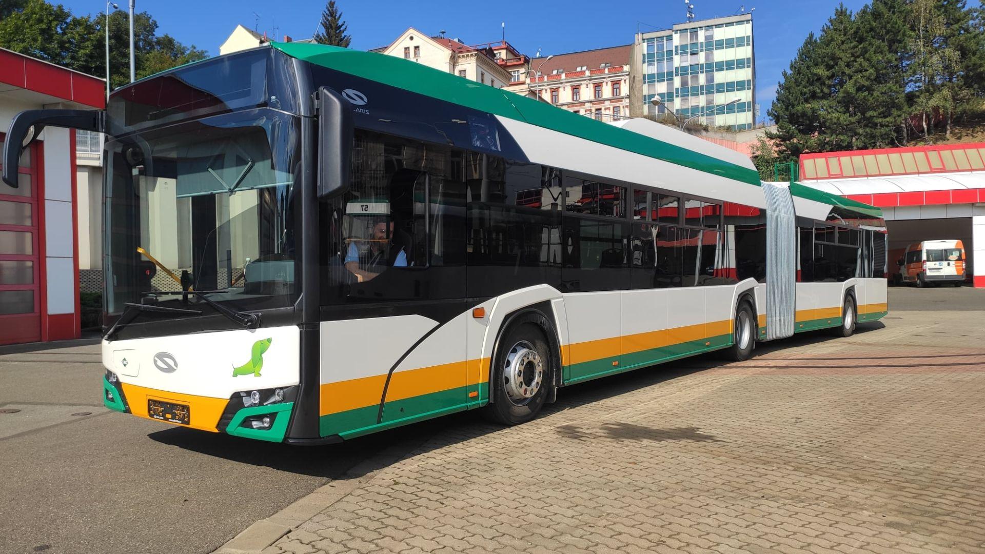Nový autobus Solaris Urbino 18 pro Dopravní podnik měst Liberce a Jablonce nad Nisou. Foto: DPMLJ